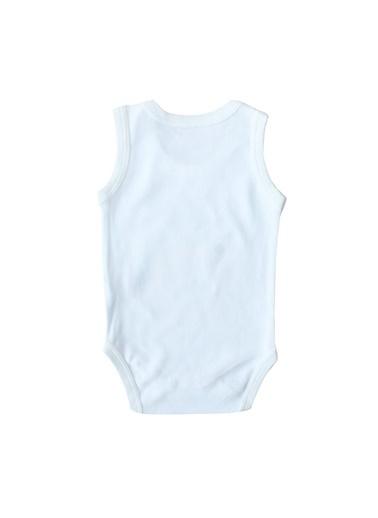 By Bebek Odam Roar Yazılı Askılı Bebek Zıbın Beyaz